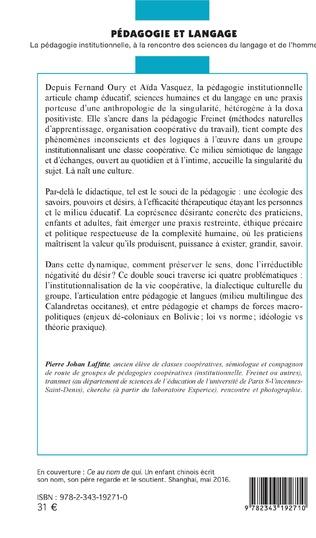 4eme Pédagogie et langage