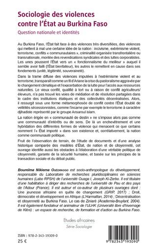 4eme Sociologie des violences contre l'État au Burkina Faso
