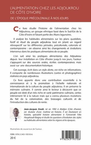 4eme L'alimentation chez les Adjoukrou de Côte d'Ivoire