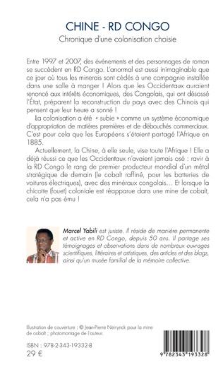4eme Chine - RD Congo. Chronique d'une colonisation choisie