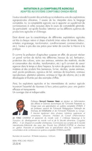 4eme Initiation à la comptabilité agricole adaptée au système comptable OHADA révisé
