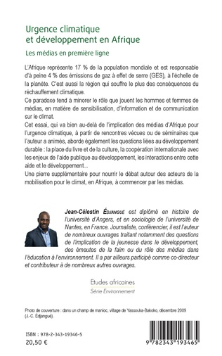 4eme Urgence climatique et développement en Afrique