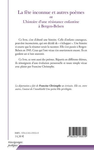 4eme La fête inconnue et autres poèmes