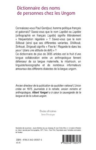 4eme Dictionnaire des noms de personnes chez les Ungom