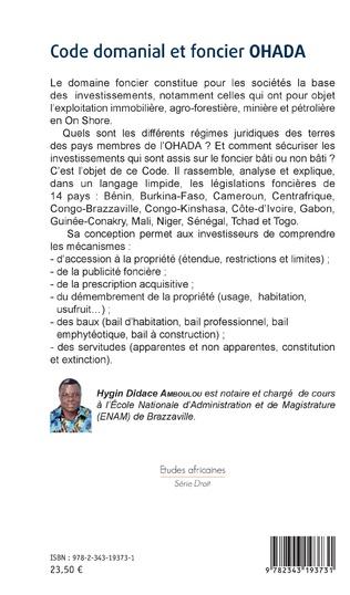 4eme Code domanial et foncier OHADA