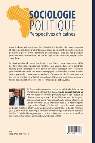4eme Sociologie politique. Perspectives africaines