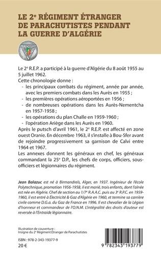 4eme Le 2e Régiment Etranger de Parachutistes pendant la guerre d'Algérie