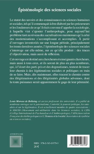 4eme Epistémologie des sciences sociales