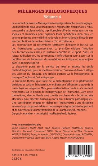 4eme Mélanges philosophiques Volume 4