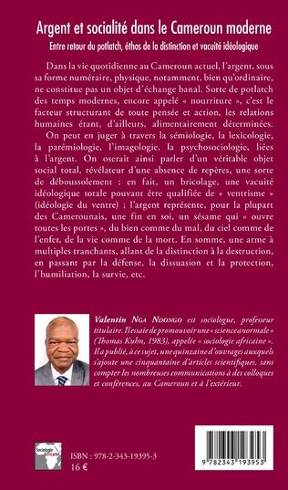 4eme Argent et socialité dans le Cameroun moderne