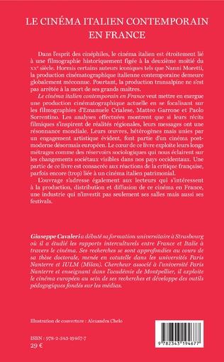 4eme Le cinéma italien contemporain en France