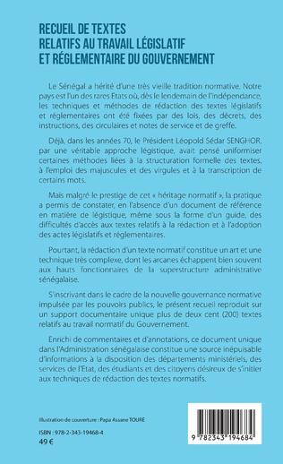 4eme Recueil de textes relatifs au travail législatif et réglementaire du gouvernement