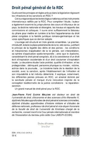 4eme Droit pénal général de la RDC