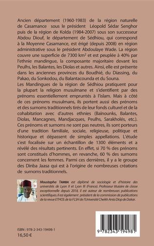 4eme 1300 prénoms et surnoms traditionnels des mandingues de Casamance