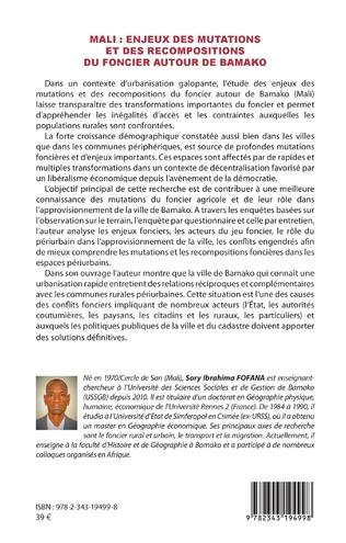 4eme Mali : enjeux des mutations et des recompositions du foncier autour de Bamako