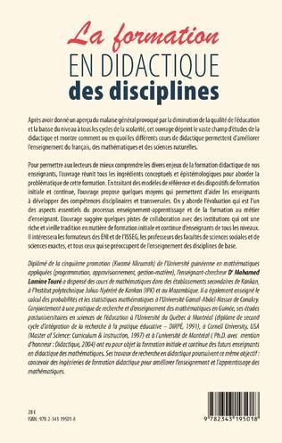 4eme La formation en didactique des disciplines