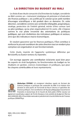 4eme La direction du budget au Mali