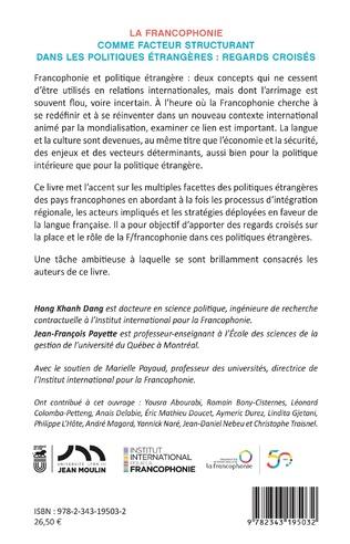 4eme La francophonie comme facteur structurant dans les politiques étrangères