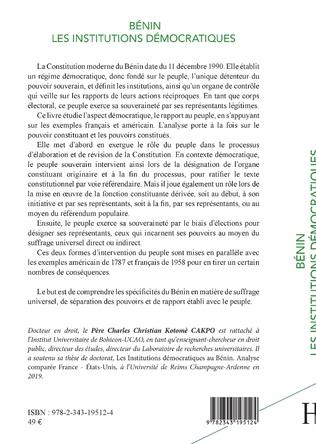 4eme Bénin les institutions démocratiques
