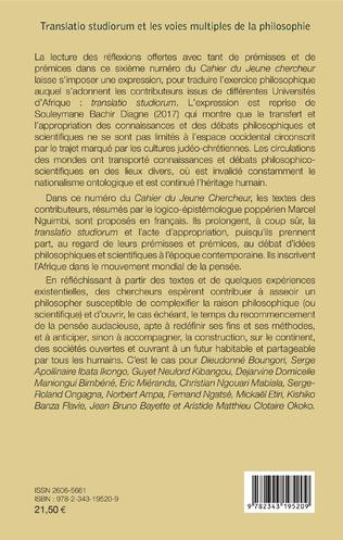 4eme Translatio studiorum et les voies multiples de la philosophie
