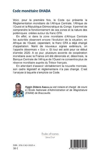 4eme Code monétaire OHADA