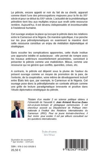 4eme Le pétrole dans les relations entre le Cameroun et le Nigeria