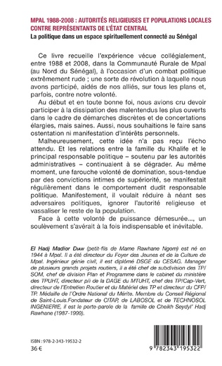 4eme MPAL 1988-2008 : autorités religieuses et populations locales contre représentants de l'état central