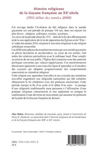 4eme Histoire religieuse de la Guyane française au XXe siècle