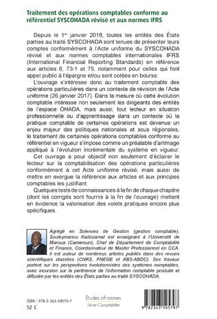 4eme Traitement des opérations comptables conforme au référentiel SYSCOHADA révisé et aux normes IFRS