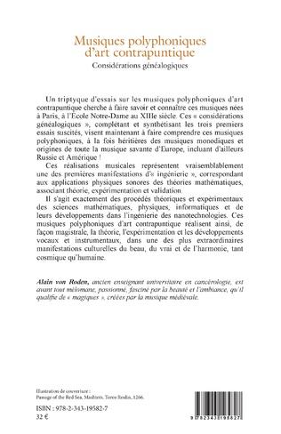4eme Musiques polyphoniques d'art contrapuntique