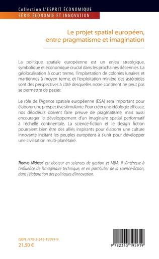4eme Le projet spatial européen, entre pragmatisme et imagination