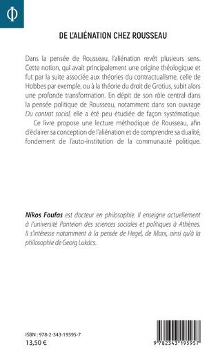 4eme De l'aliénation chez Rousseau
