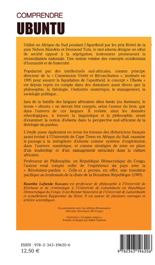 4eme Comprendre Ubuntu. R.P. Placide Tempels et Mgr Desmond Tutu sur une toile d'araignée