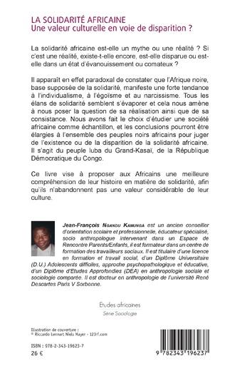 4eme La solidarité africaine. Une valeur culturelle en voie de disparition ?