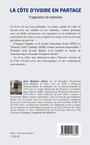 4eme La Côte d'Ivoire en partage
