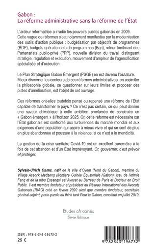 4eme Gabon : la réforme administrative sans la réforme de l'Etat