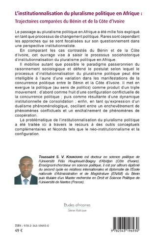 4eme L'institutionnalisation du pluralisme politique en Afrique :