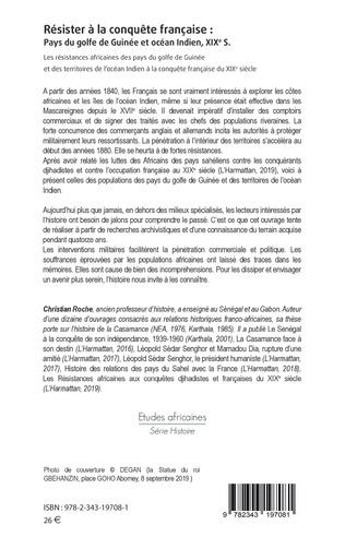 4eme Résister à la conquête française : Pays du golfe de Guinée et océan Indien, XIXe siècle