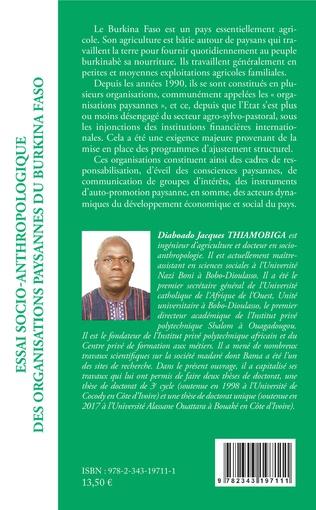 4eme Essai socio-anthropologique des organisations paysannes du Burkina Faso