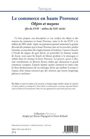 4eme Le commerce en haute Provence