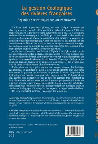 4eme La gestion écologique des rivières françaises