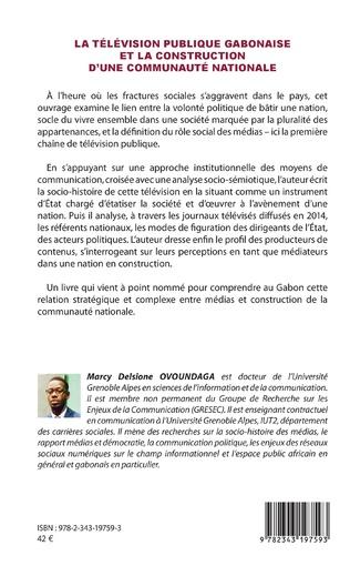 4eme La télévision publique gabonaise et la construction d'une communauté nationale