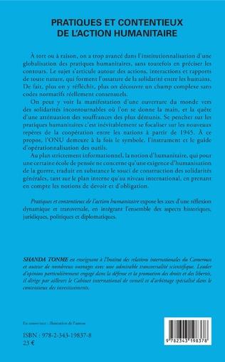 4eme Pratiques et contentieux de l'action humanitaire