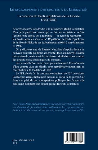 4eme Le regroupement des droites à la Libération