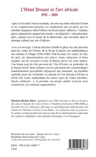 4eme L'Hôtel Drouot et l'art africain 1945-1960