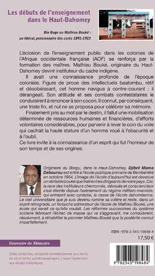 4eme Les débuts de l'enseignement dans le Haut-Dahomey