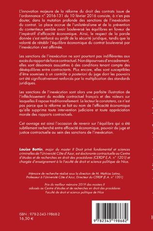 4eme Les sanctions de l'inexécution après la réforme du droit des contrats