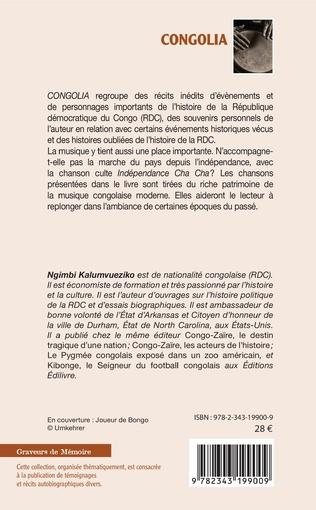 4eme Congolia. Des histoires congolaises, des souvenirs et des chants qui parlent
