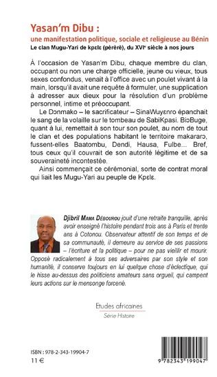 4eme Yasan'm Dibu : une manifestation politique, sociale et religieuse au Bénin