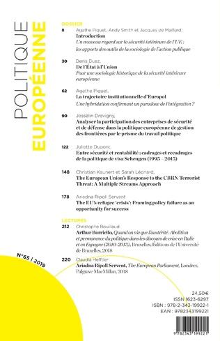 4eme La sécurité intérieure européenne au prisme de la sociologie de l'action publique